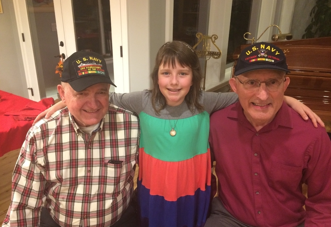 Brigette Harrington is proud of her Navy Veteran Grandpas, Michael Harrington, and Charles Gebhardt