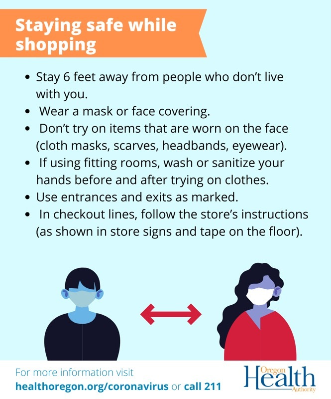 Safe Holiday Shopping Graphic
