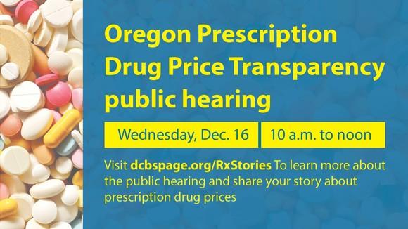 Drug Price Hearing Flyer