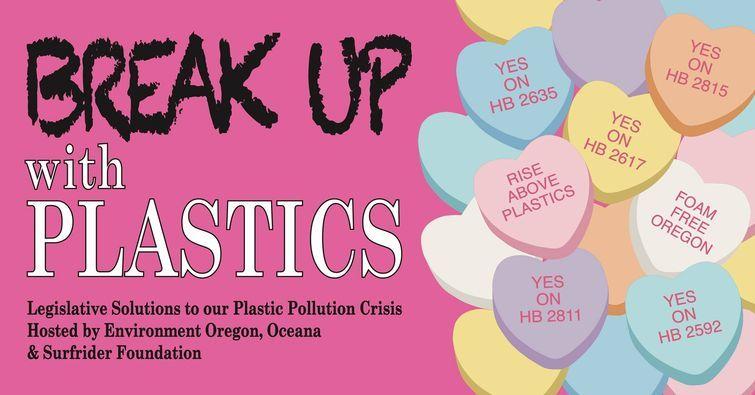 Break up with Plastics graphic