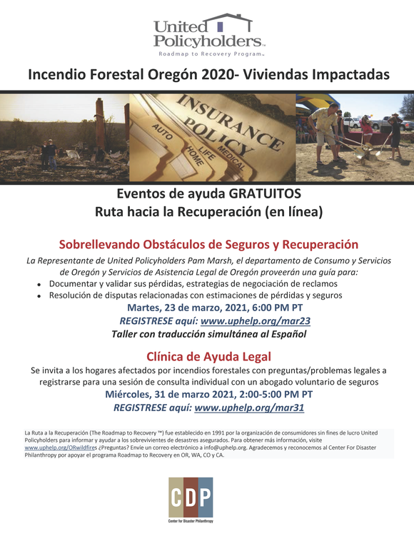 Insurance Events Flyer (Spanish)