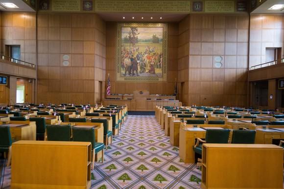 Oregon House of Representatives Empty Floor