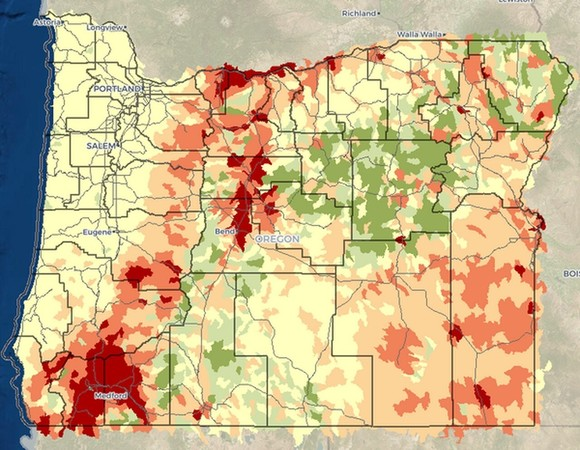 Wildfire Tracker map example