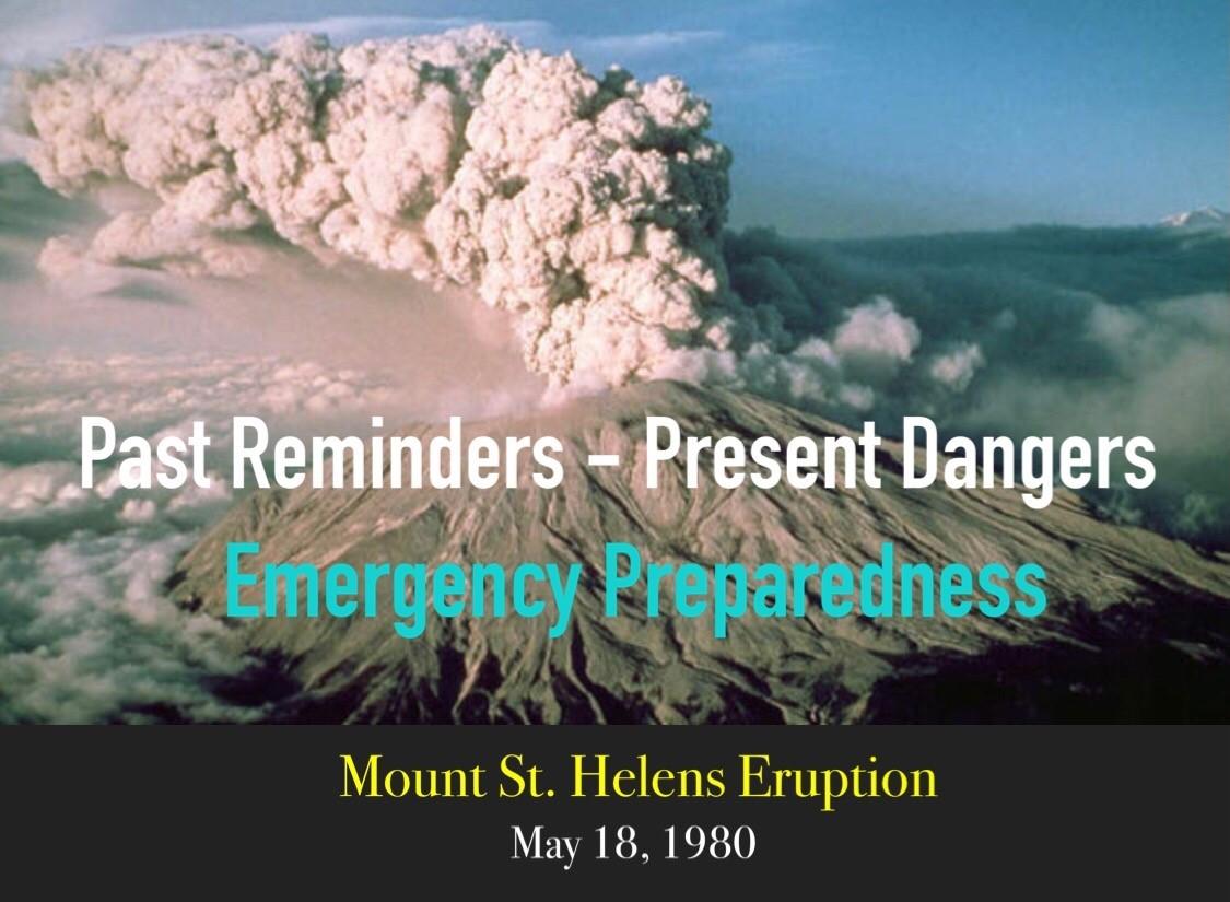 Mount St Helens - Emergency Preparedness Graphics