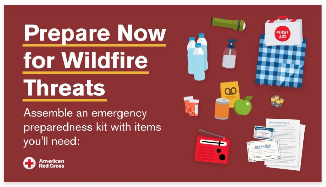 American Red Cross - Prepare Now for Wildfire Threats Graphics
