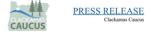 Clackamas Caucus Press Release Photo