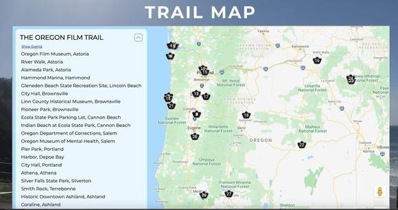 Oregon Trail Film Map
