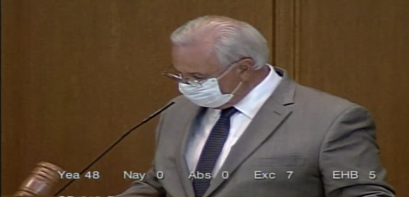Rep. Gomberg presiding over House 6.3.21