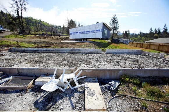 Manufactured homes being replaced in Otis