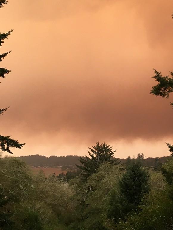 smokey skies Labor Day Wildfires