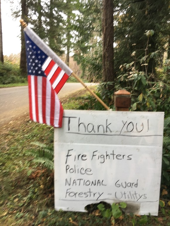 thank you first responders roadside signs