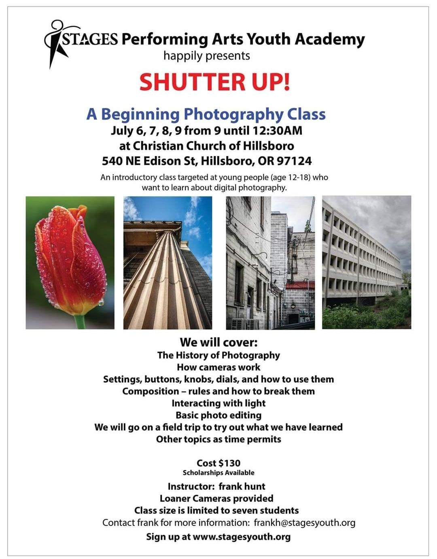 Shutter Up Photography Class