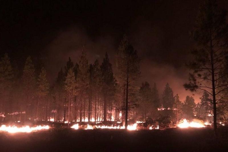 Bootleg Fire near Highway 34