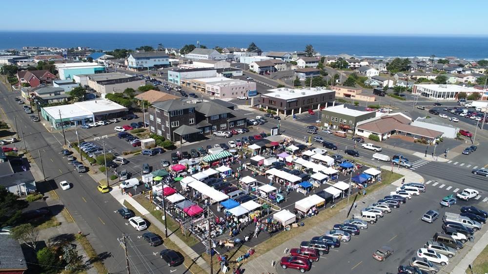 Farmers Market Aerial Photo