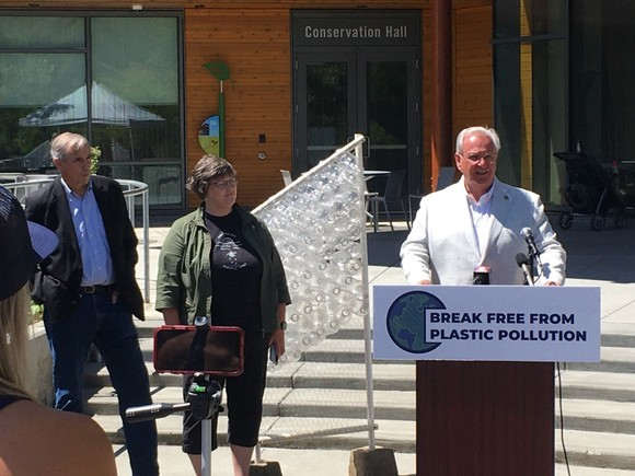 Break Free From Plastic Pollution Press Event