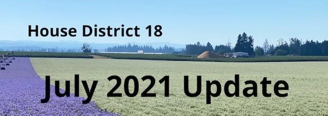 House District 18 Legislative Update photo