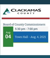 Clackamas County Board of Commissioners Town Hall Graphics