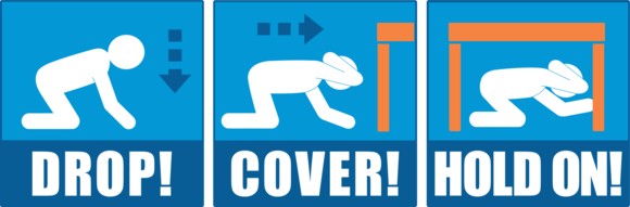 Drop Cover and Hold On Graphic