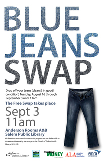 Blue Jeans Swap Poster