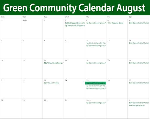 Green Community Calendar