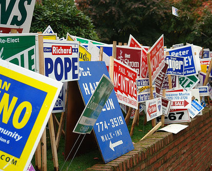 Political Sign Recycling