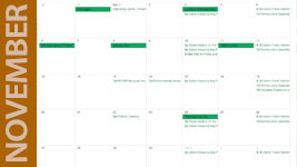 November Green Community Calendar