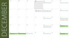 December Green Calendar