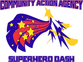 Superhero Dash fun run logo