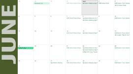 June Green Calendar