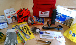 Example of an emergency go bag
