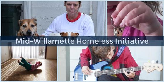 Photo collage banner for Mid-Willamette Homeless Initiative
