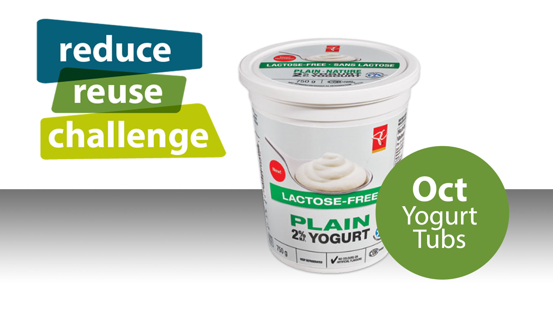 Reduce Reuse Challenge October, Yogurt Tubs