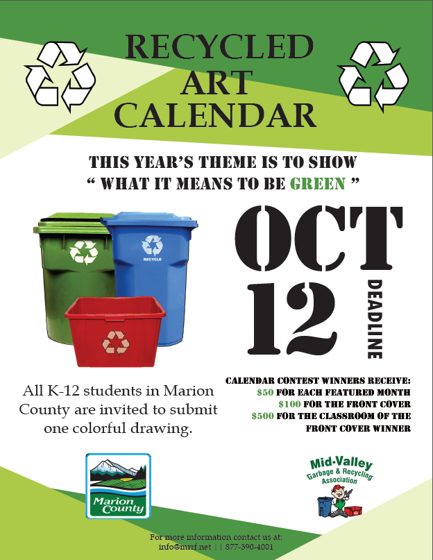 Recycled Art Calendar