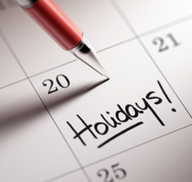 Holiday Calendar
