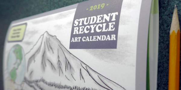 Student Recycle Art Calendar 2019