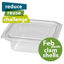 February Challenge Plastic Clamshell packaging