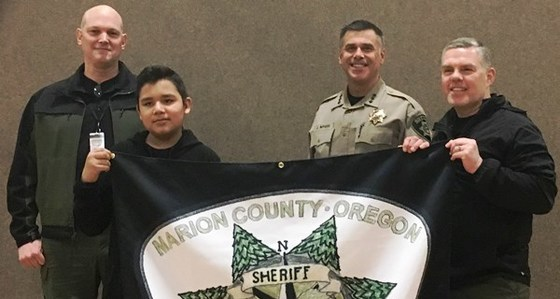 Student with Sheriff and commanders