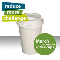 Reduce Reuse Challenge Disposable Coffee Cup