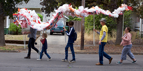 Upcycled Puppet Parade