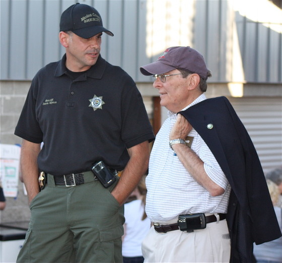 CAO John Lattimer and Sheriff Jason Myers