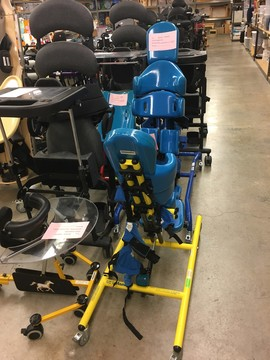 Blue and black adaptive and orthopedic equipment