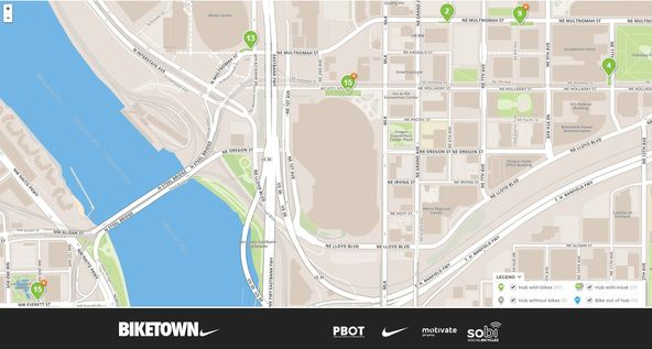 Rose Quarter BIKETOWN map