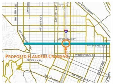 Flanders Crossing map