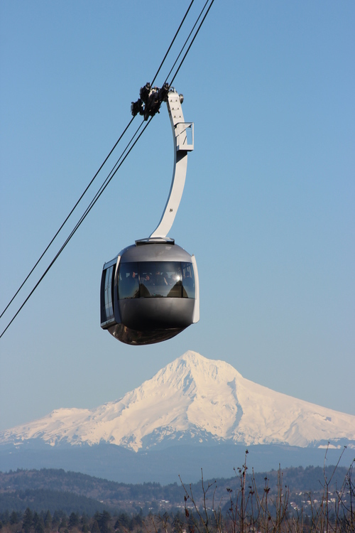 Portland Aerial Tram with ropes