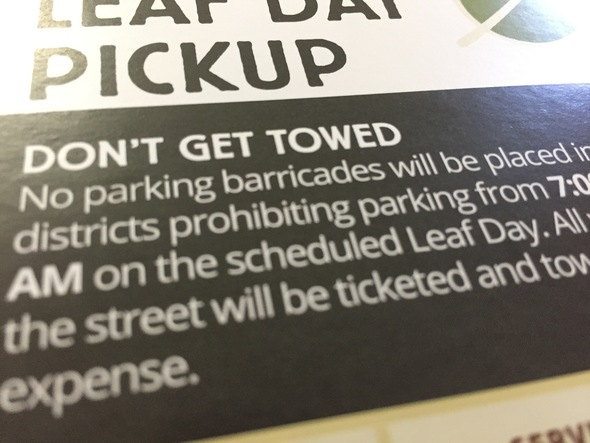 Dont Get Towed brochure image