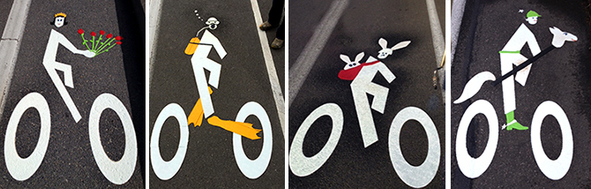 bike lane art portland