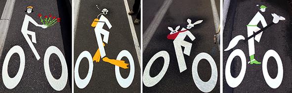 bike lane art portland