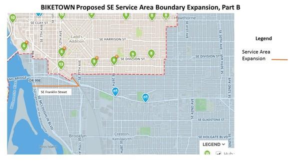 BIKETOWN Expansion SE Portland Part B