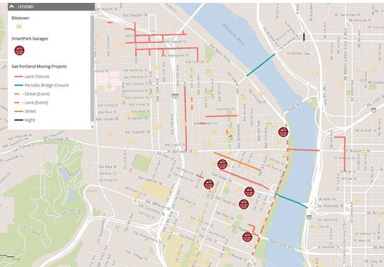 Traffic Advisory Traffic Impacts In Portland S Central Business