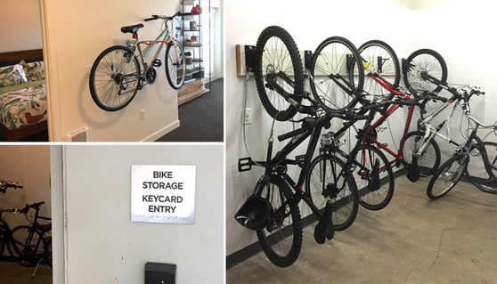 examples of bike parking